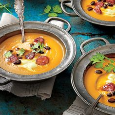 Spicy Pumpkin Soup with Avocado Cream Recipe