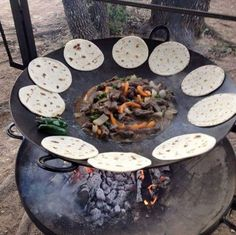 Use a Tractor Disc for a BBQ...these are awesome Camping Ideas, Gear, Tips, & Tricks!