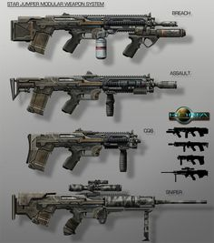 Modular Weapon System by Cpt-Crandall on deviantART
