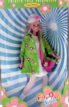 1999 Far Out TNT Mod Barbie Reproduction. This doll from 1999 features a beautiful blonde TNT reproduction, wearing a new ensemble.  The ensemble is not a mod or vintage reproduction.
