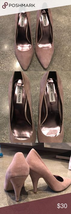 Steve Madden nude rose pumps Only used one time. The top looks pretty new  only a 2 small imperfections as shown in the picture but not really visible  when ...