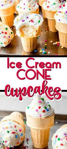 Ice Cream Cone Cupcakes are the most adorable dessert that will bring a smile to everyone's face.  Made using a simple box cake mix (great baking hack), and sprinkled with cheer, you will enjoy celebrating with these fun treats.