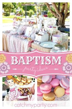 Sofia's art (Texni tis Sofias)'s Baptism / Vintage / Retro - Retro Paper Doll Themed Baptism at Catch My Party Baptism Food, Baptism Ideas, Christening Party, Baptism Party, Retro Party, Vintage Party, Red Birthday Party, Shabby Chic Cakes, Party Planning Checklist