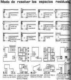 Vocabulario de formas arquitectónicas: resolver los espacios residuales : ESCALA:TOTAL