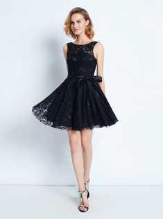 Black Homecoming Dress with Sash,Lace Cocktail Dress classy,Short Party Dress modest Modest Homecoming Dresses, Grad Dresses Short, Lace Homecoming Dresses, Prom Dresses With Sleeves, Short Mini Dress, Modest Dresses, Trendy Dresses, Mini Dresses, Short Prom