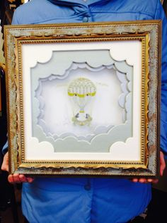 Needlework balloon and frame