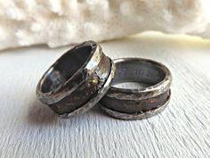personalized wedding rings bronze wedding bands by CrazyAssJD
