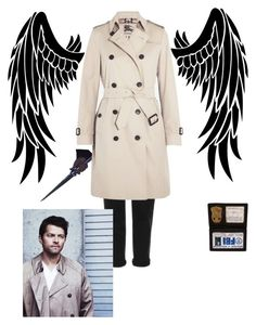 """castiel"" by katiegem123 on Polyvore featuring Topshop and Burberry"
