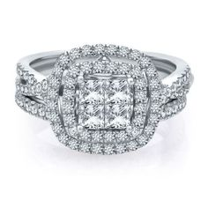 helzberg diamond symphonies mosaica 1 12 ct tw diamond engagement ring - Helzberg Wedding Rings