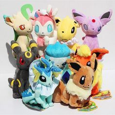 9 pcs/set pokemon Eevee Family Plush Toys Doll Stuffed Animals Eevee Espeon Jolteon Vaporeon Flareon Glaceon Kids Plush Toys Item Type: Animals Features: Stuffed & Plush,Soft,Mini Gender: Unisex Type: