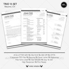Simple curriculum vitae set in various color variants | Creative ...