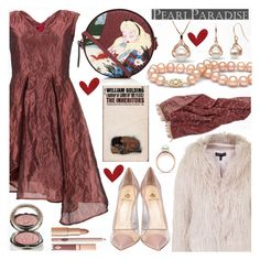 """""""Valentine's Day with Pearl Paradise!"""" by the-reluctant-dragon ❤ liked on Polyvore featuring Topshop, Vivienne Westwood, Semilla, Olympia Le-Tan, Chantecaille, women's clothing, women's fashion, women, female and woman"""