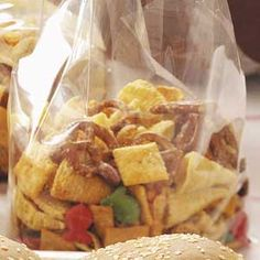 This is an eclectic snack mix -- but it  has Bugles in it so I might give it a try!!  Will most def make Chex Mix, too, as it's my signature treat!