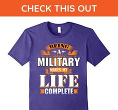 Mens Funny family shirt Being a military makes my life complete 3XL Purple - Relatives and family shirts (*Amazon Partner-Link)