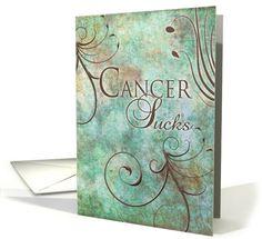 Cancer Sucks Greeting card by Robin Chaffin