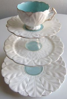 I love the idea of a cup on top, or even a small dessert bowl … DIY tiered trays. I love the idea of a cup on top, or even a small dessert bowl of some variety. Weekend Projects, Diy Projects To Try, Teacup Crafts, Small Desserts, Tiered Stand, Dessert Bowls, Diy Cake, Dollar Store Crafts, Tray Decor