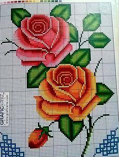 Cross Stitch Pattern Maker, Cross Stitch Rose, Cross Stitch Flowers, Cross Stitch Patterns, Cross Stitching, Cross Stitch Embroidery, Hand Embroidery, Seed Bead Flowers, Beaded Flowers