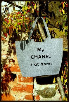 funny Felt Tote Bag  Message Bag eco friendlySlow by FakeFashion