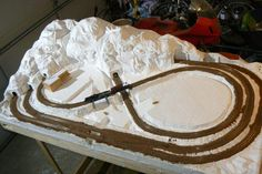 ho train layouts built with mountains - Google Search