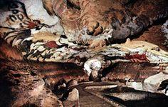 La sala de los Toros,  descubierta en 1940. Cueva de Lascaux. Francia.