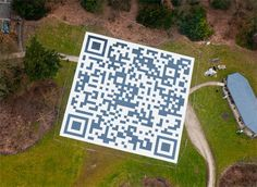 St-Janiver de Mirabel by Air Fest set a new record of biggest QR code.Can only be scanned from 1000 feet above the ground.