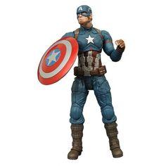 Figurine Captain America du film Captain America Civil War articulée taille env. 18 cm, en emballage blister.