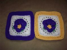 Ravelry: Project Gallery for Pretty Pansies pattern by Terry Kimbrough