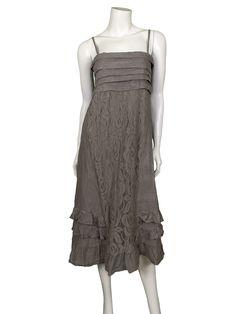 Kleid aus Leinen, schlamm - www.meinkleidchen.de