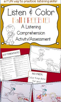 Students beg to practice their listening skills with this activity! Try it for FREE! Counseling Activities, Speech Activities, Comprehension Activities, Listening Activities For Kids, Language Activities, School Counseling, Classroom Activities, Group Activities, Active Listening