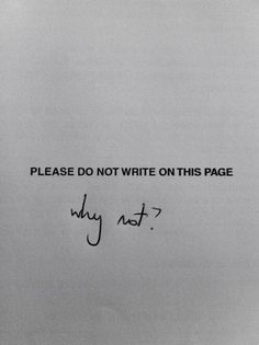 Please Do Not Write on This Page