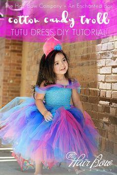 Cotton Candy Troll Tutu Dress Diy