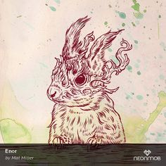 "I love print #334 of ""Enor"" from Bestial Spirits: Loners by Mat Miller on @NeonMob - Check it out!"