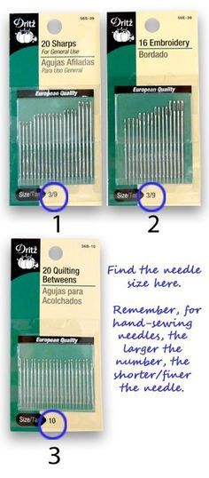 Sewing Basics: Hand-Sewing Needles, Here's a little know-how to help you choose the right needle for your project.