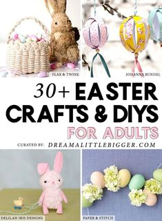 Finding good Easter crafts that are awesome and mature enough for adult crafters isn't easy. Today we've rounded up over 30 of our favorite Easter Crafts for Adults! Crafts To Do, Easy Crafts, Candy Topiary, Easter Crafts For Adults, Back To School Crafts, Diy Easter Decorations, Easter Crochet, That Way, Craft Blogs