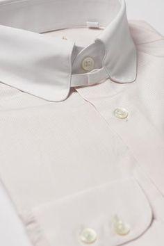 6781da30 Mens Pink Striped Tab Collar Shirt White Penny Collar Shirt Maker, Collar  Shirts, Wedding
