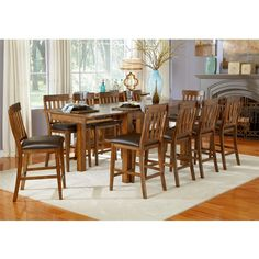 mariposa 100 wood gathering height dining table only in rustic whiskey by a america bt2 8 rustic wood furniture