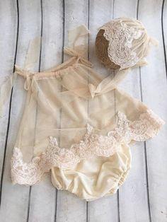 Newborn Lace Romper set. Newborn Romper. by 4LittlePrincessProps