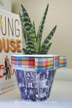 Mod Podged Photo Planter--Fun and Easy Mod Podge Craft