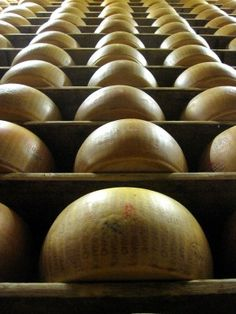 oh to have fresh, true parmesan cheese from Parma, Italy!