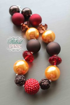 Autumn Rose little girls chunky necklace by PalestPink on Etsy, $28.00