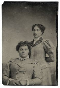 AFRICAN-AMERICAN-BLACK-WOMEN-SISTERS-STRONG-TINTYPE-NO-BENDS