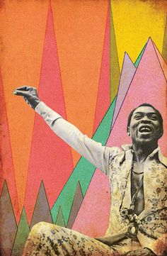 "lexxdigs:  ""fela"" digital collage for artdontsleep • june 2013 