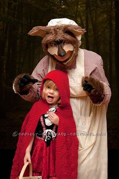 Not-So-Scary Homemade Big Bad Wolf Costume... This website is the Pinterest of costumes