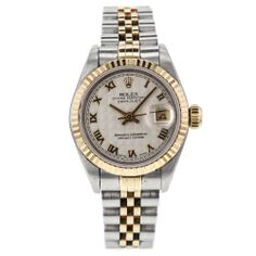 Ladies Rolex DateJust 18k Yellow Gold & Stainless Steel 69173 Watch T Serial