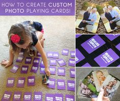 Create custom photo playing cards! Great gift idea.   betterafter.net