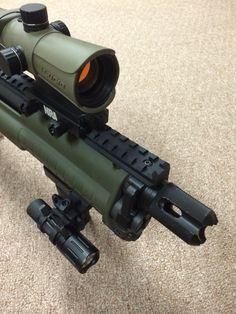 Breach and brake, KSG shotgun, home defense, guns, 12gauge, tactical, light weight ammo holder