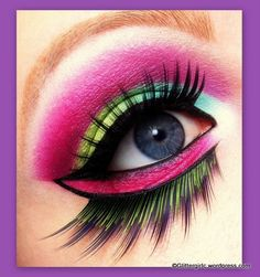 """""""Colorful Bird"""" by Cecilie featuring Sugarpill Toxic eyelashes."""