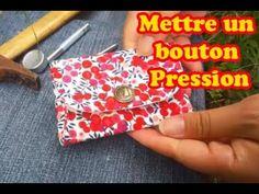 poser bouton pression metallique - YouTube