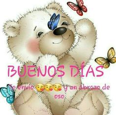 Good Morning Kisses, Good Morning Greetings, Good Morning Quotes, Cute Spanish Quotes, Spanish Prayers, Spanish Greetings, Hug Quotes, Bff Drawings, Cute Cartoon Pictures