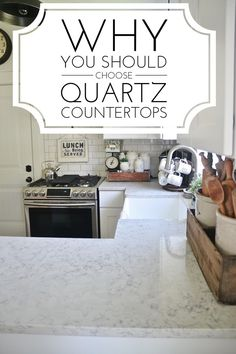 Why Quartz is the best - Pros & cons of quartz countertops- a must pin if you are ever going to re-do your kitchen.